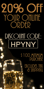 20% OFF ONLINE ORDERS OVER $100. Discount code: HPYNY